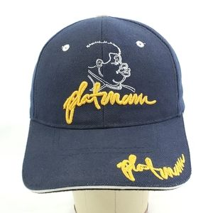 Rare CJ Headwear Phatman Baseball Cap Hat Navy Emb